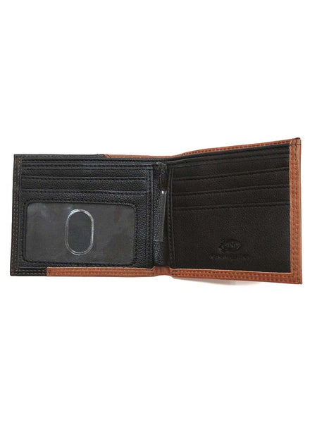 Justin Bi-Fold 2 Tone Black Brown Leather Wallet 1920567W4