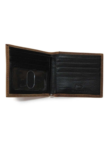 Justin Bi-Fold Ostrich Inlay Leather Wallet 1920567W5