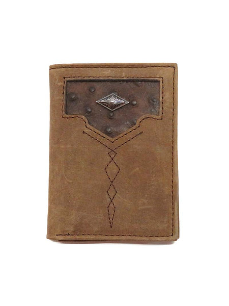 Justin Tri-Fold Tri-Fold Ostrich Inlay Leather Wallet 1920568W5