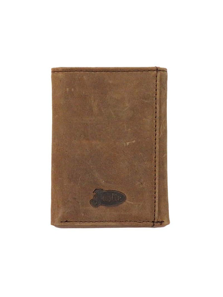 Men's Justin Tri-Fold Tri-Fold Ostrich Inlay Leather Wallet 1920568W5