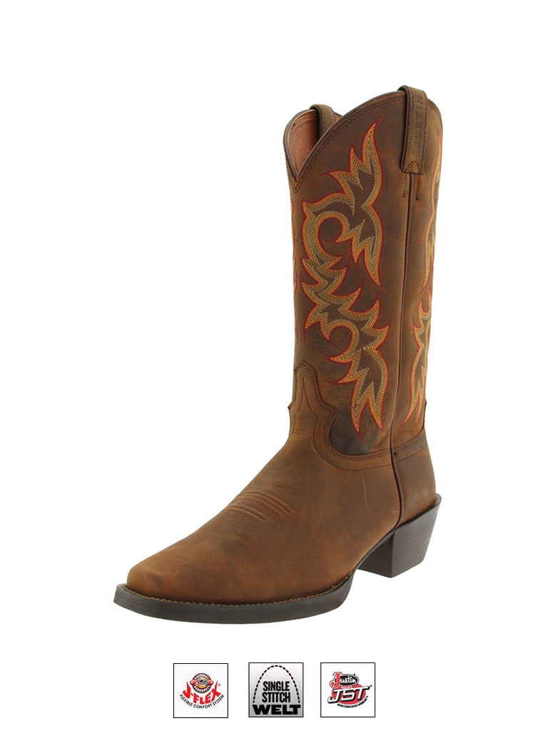 Justin 2552 Mens Stampede Western Boot Quint Brown