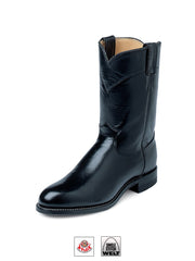 Justin 3133 Mens Kipskin Western Boot Black