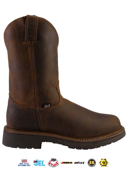 Justin 4445 Mens Balusters Electrical Hazard J-Max Steel-Toe Work Boots Brown