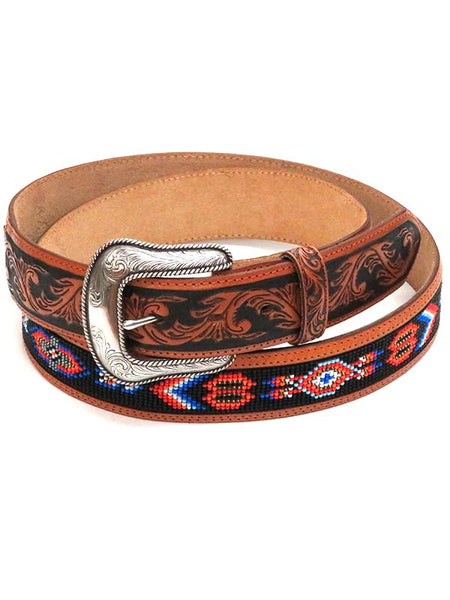 Justin Mens LARGE SIZE Pueblo Spirit Beaded Inlay Belt C12624