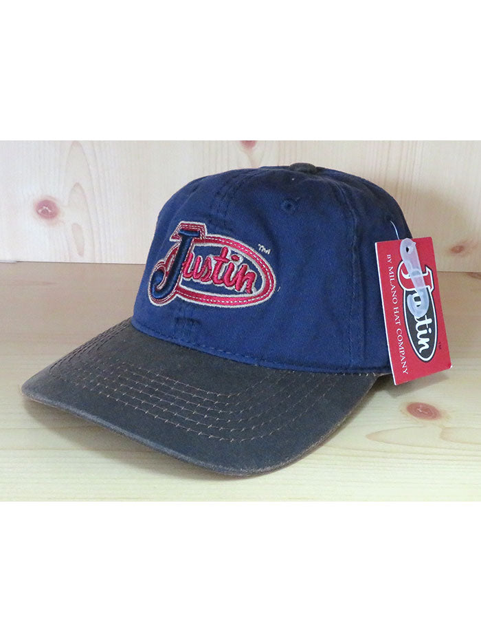 Justin JCBC017 Embroidered Logo Cotton Twill Cap Navy