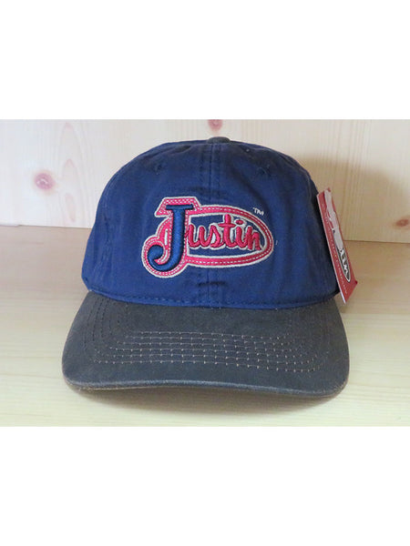 Justin JCBC017 Embroidered Logo Cotton Twill Cap Navy front