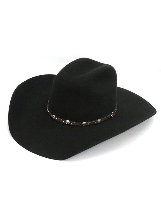 Justin JF0230BUST4402 Mens 2X Buster Premium Felt Hat Black at JC Western Wear