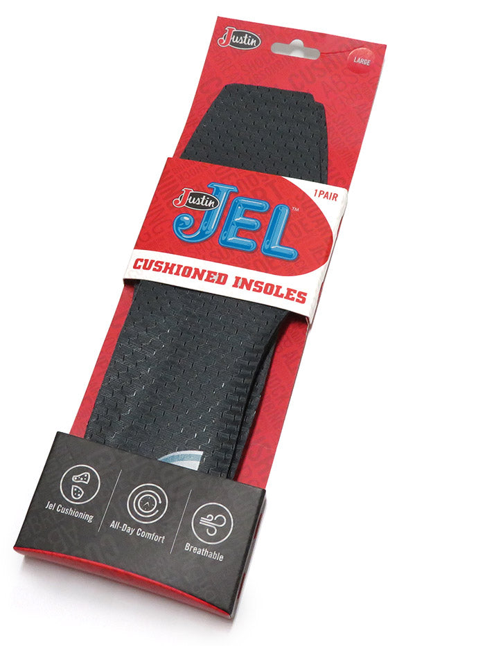 Justin Jel Square Toe Boot Inserts SOX9606 New
