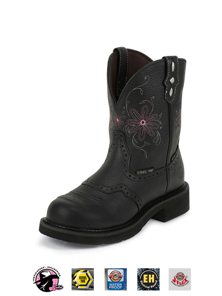 Justin Womens Gypsy Steel Toe Work Boot WKL9982 Black Justin - J.C. Western® Wear