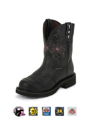 Justin WKL9982 Womens Gypsy Steel Toe Work Boot Black