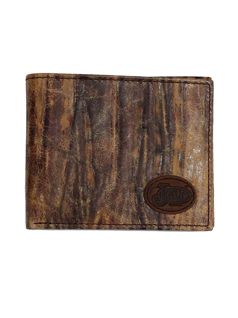 JustinDistressed Brown Leather Bi-Fold Wallet JB268