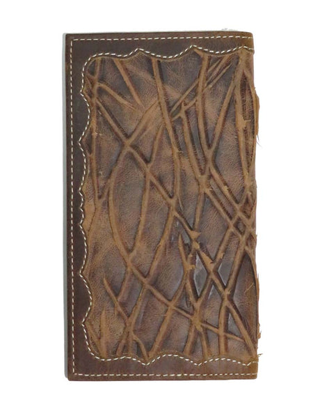 Justin Mens Conchos Brown Distressed Leather Rodeo Wallet WJB165