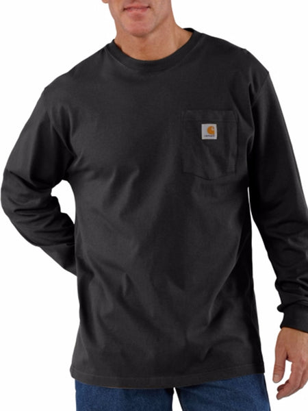 Carhartt Workwear Pocket Long-Sleeve Shirt - Black Carhartt - J.C. Western® Wear