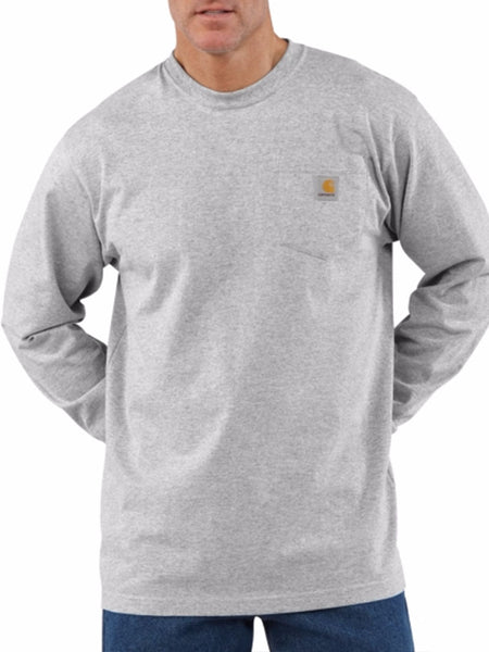 Carhartt Workwear Pocket Long-Sleeve Shirt - Heather Gray Carhartt - J.C. Western® Wear