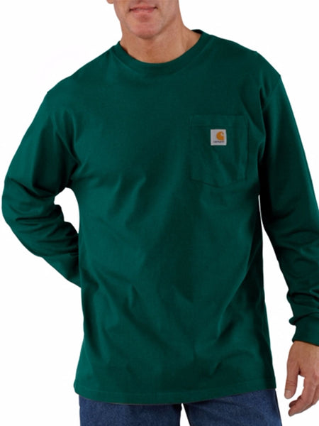 Carhartt Workwear Pocket Long-Sleeve Shirt - Hunter Green Carhartt - J.C. Western® Wear