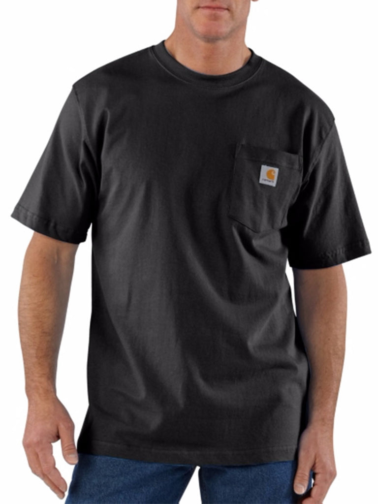Carhartt K87 Mens Workwear Pocket Short-Sleeve T-shirt Black Carhartt - J.C. Western® Wear