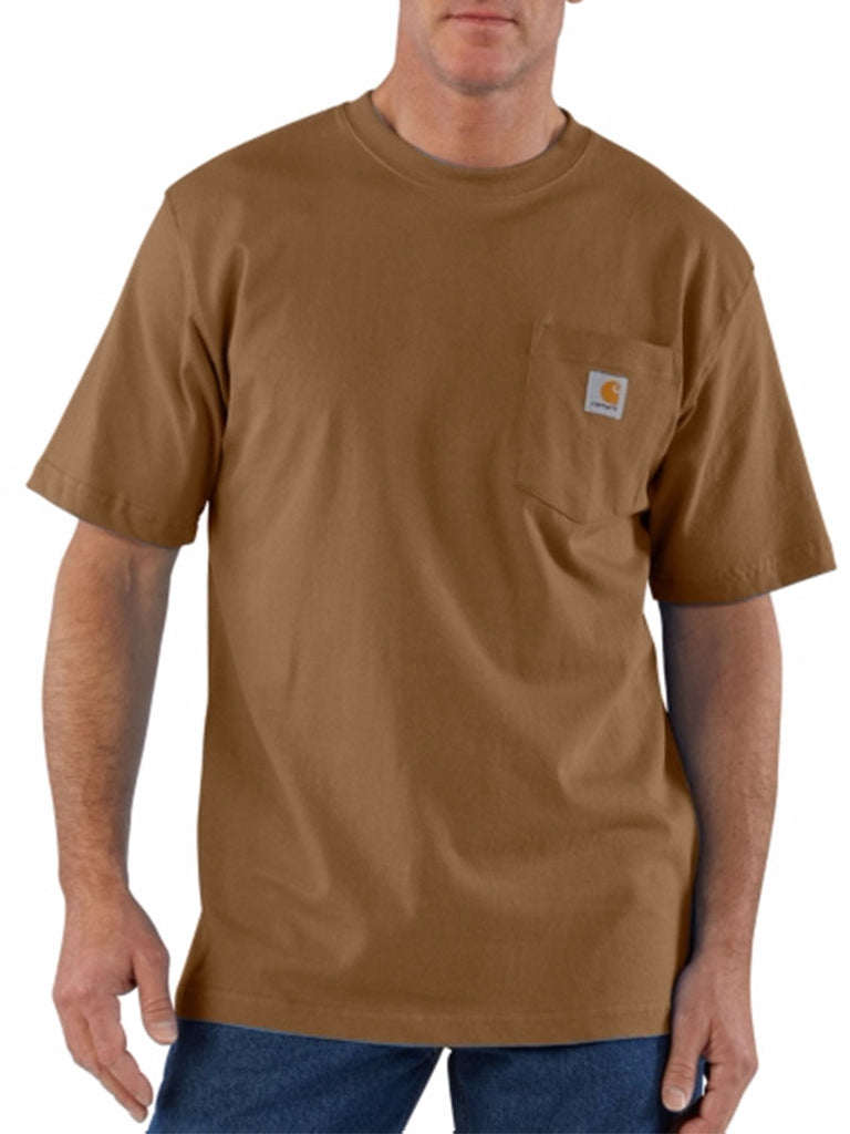 Carhartt K87 Mens Workwear Pocket Short-Sleeve T-shirt Brown Carhartt - J.C. Western® Wear