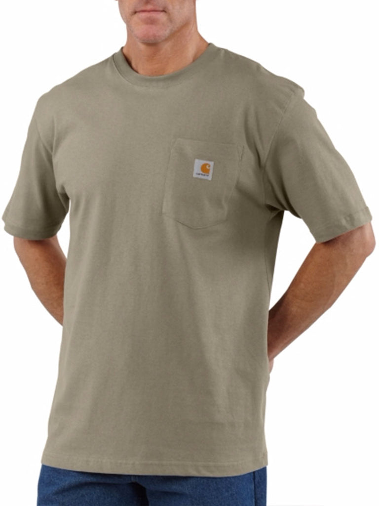 Carhartt K87 Mens Workwear Pocket Short-Sleeve T-shirt Desert Carhartt - J.C. Western® Wear