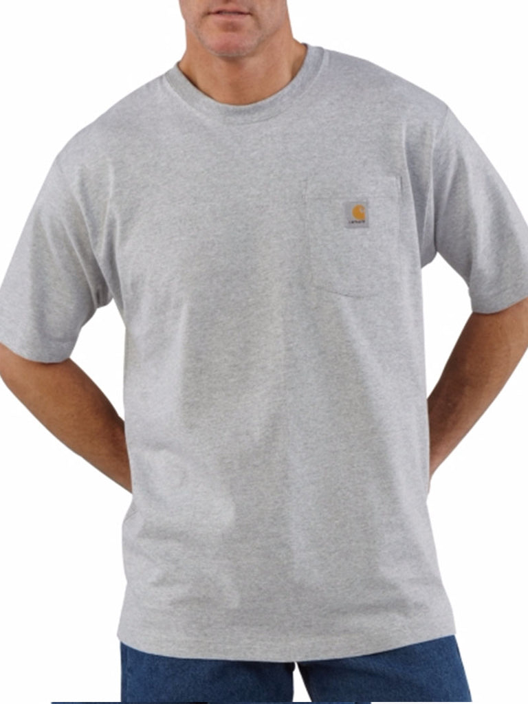 Carhartt Workwear Pocket Short-Sleeve T-shirt - Heather Gray Carhartt - J.C. Western® Wear