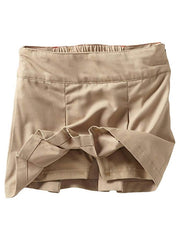 Dickies KT390DS Big Girls Pleated Skooter Skirt Khaki for Kid