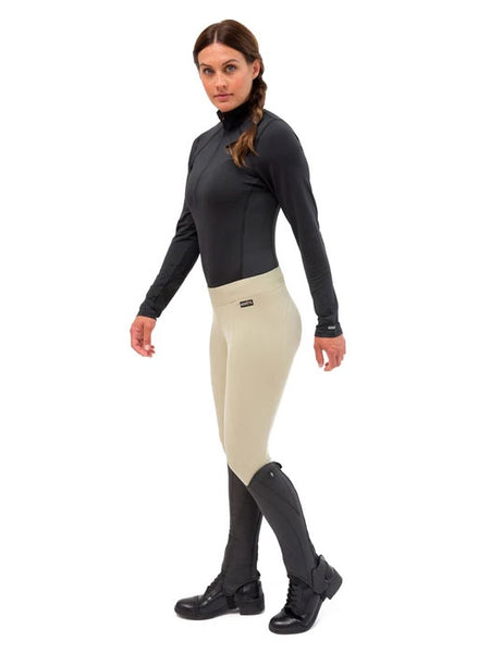 Kerrits 50200 Womens Flow Rise Knee Patch Performance Tight TAN
