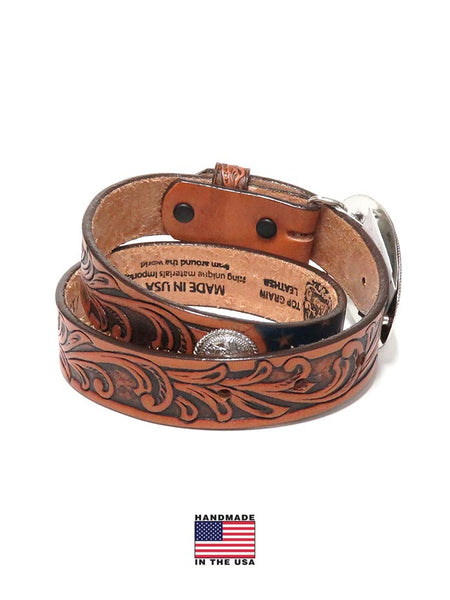 Tony Lama Kids USA Made Americana Leather Belt C60204 back at JC Western Wear, Jupiter, Florida