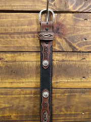 Nocona Kids Conchos and Fabric Southwestern Belt N4415801 at JCW Florida