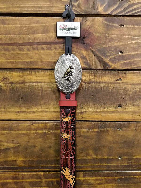Nocona Boy's Rodeo Printed Brown Leather Belt N4422002