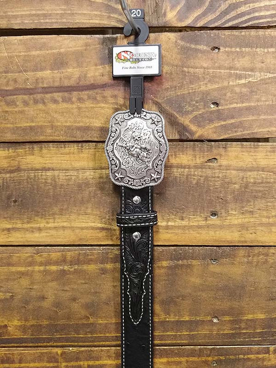 Nocona Kids Ostrich Strap with Embossed Tab Western Belt N4440001