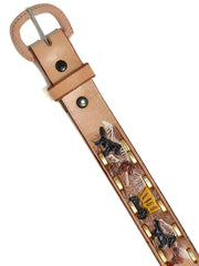 Western Express Kids Western Embossed Lacing Leather Belt XK105 top view