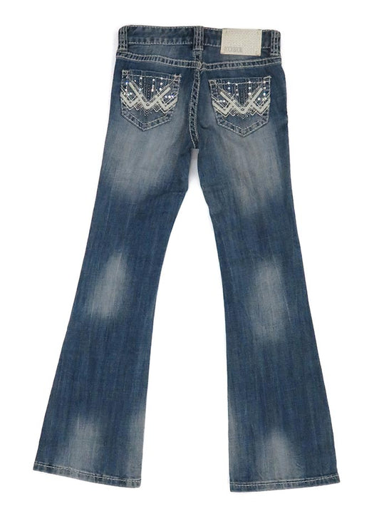 Rock & Roll Cowgirl Girls Vintage Boot Cut Jean G5-1552 Denim Back