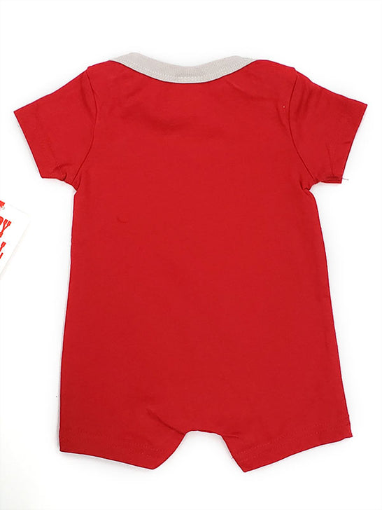 Baby Korral KK-12BR Boys Graphic Bull Onesie Red Back