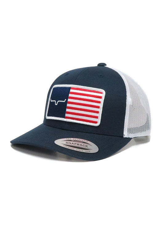 Kimes Ranch Mens American Trucker Mesh Back Navy Cap Front