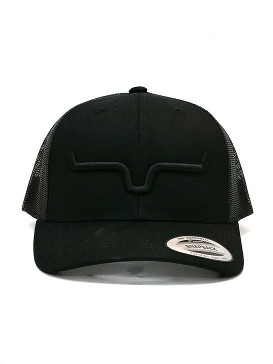 Kimes Ranch Mens Weekly Trucker Mesh Back Cap Black Front