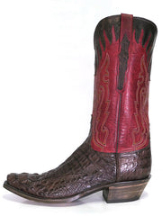 Lucchese L1443.54 Mens Classics Hornback Caiman Skin Snip Toe Boots Side view