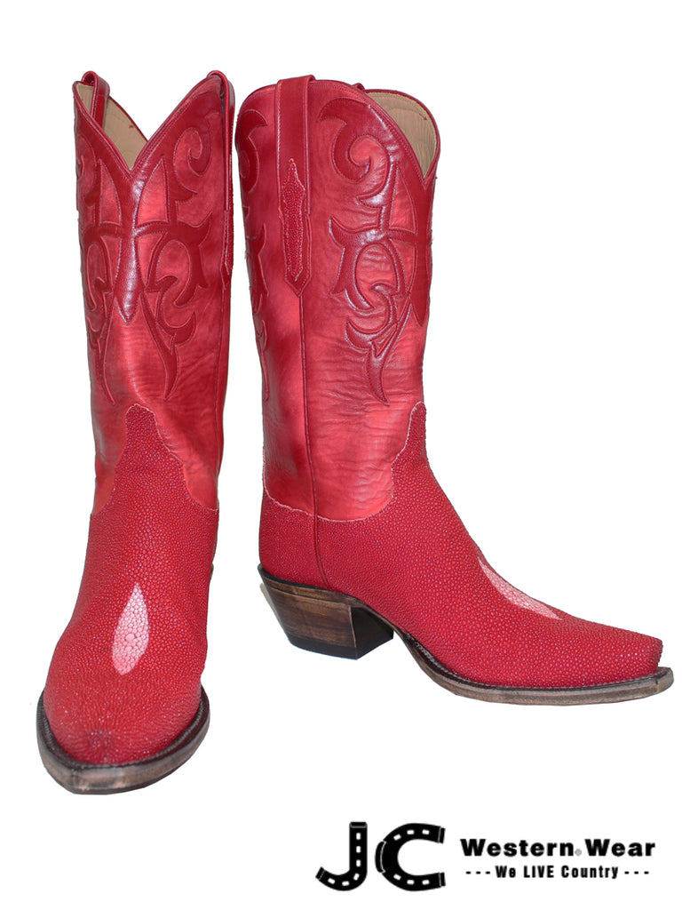 Lucchese Women's Classic Imperial Red Stingray Skin Boots L4152.54 Lucchese - J.C. Western® Wear