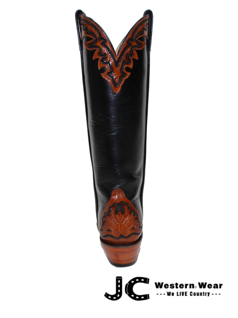 Women's Lucchese Classic Mahogany and Black Hand Tooled Boots L4656.54 Lucchese - J.C. Western® Wear