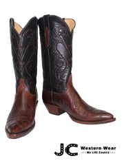 Women's Lucchese Classic Tan Burnished Ranch Leather Boots L4712.44 Lucchese - J.C. Western® Wear