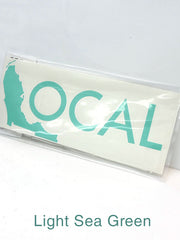 Local Solid Color Decal Stickers 10x4 15x6 Light Sea Green
