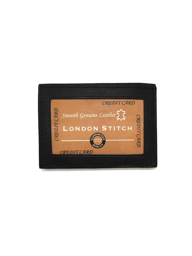 London Stitch Mens Black Leather Slim Wallet LS0982 London Stitch - J.C. Western® Wear