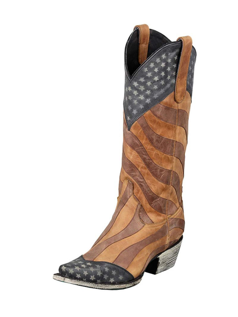 official detailed pictures amazing quality Womens Lane Faded Glory Stars & Stripes Western Boots LB0116A