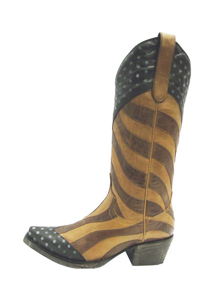 Women's Lane Faded Glory Stars & Stripes Western Boots LB0116A Lane Boots - J.C. Western® Wear