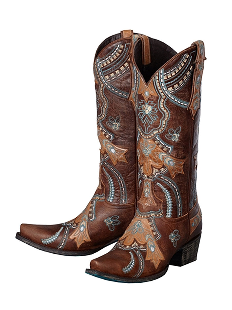 Women's Contrasting Embroidered Native Belle Lane Boots LB0190A - J.C. Western® Wear