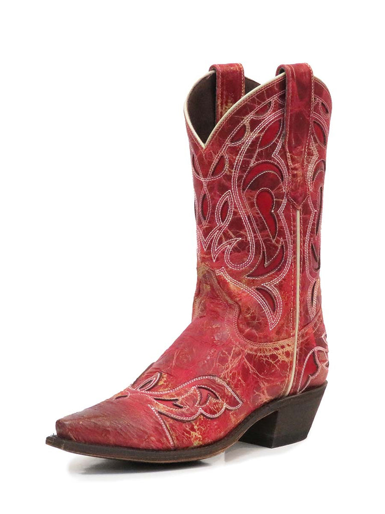Corral Women/'s Deer Skull /& Embroidery Distressed Tan Square Toe Boots A3708