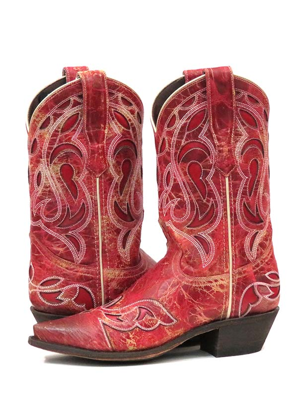 Laredo 3125 Womens NO MORE DRAMA Snip Toe Boots Red