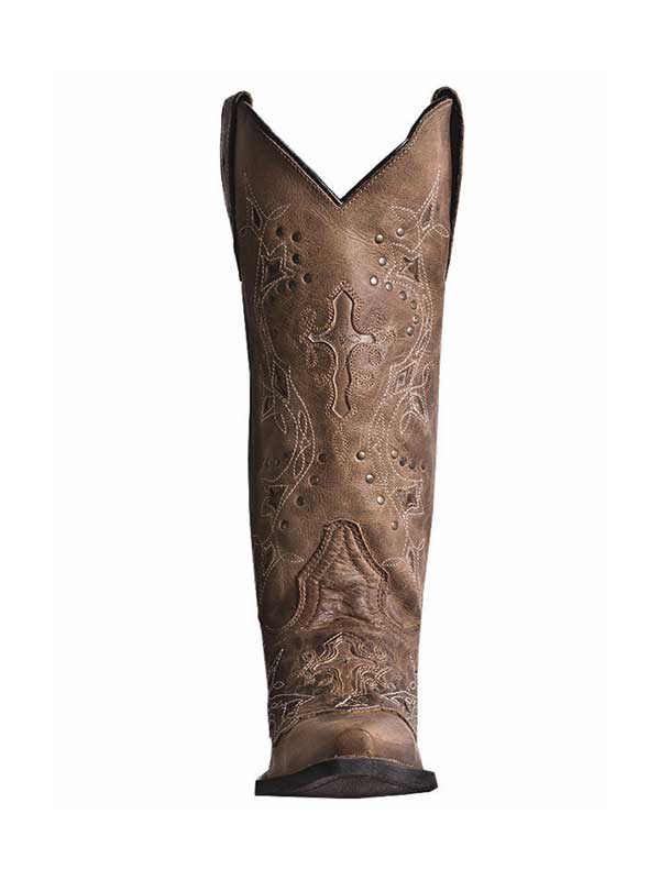 Laredo Womens Cross Point Western Leather Boot 52033