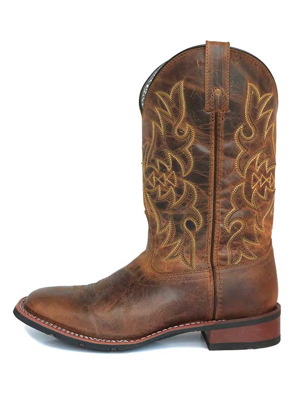 Laredo 5602 Womens Anita Square Toe Western Boots Distressed Tan
