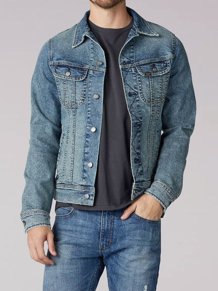 Lee 2202118 Mens American Classic Denim Jacket Old School front