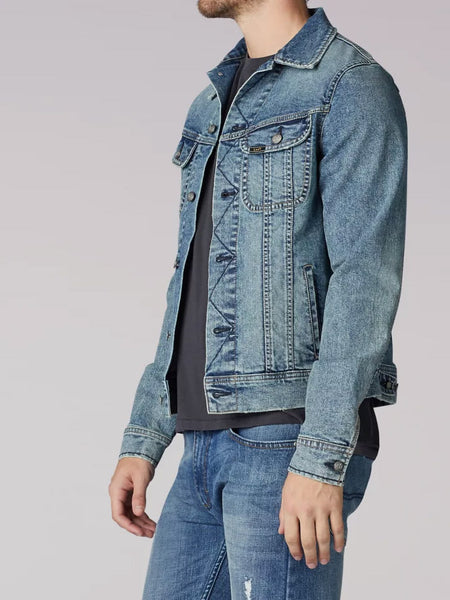 Lee 2202118 Mens American Classic Denim Jacket Old School side