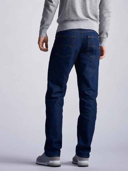Lee Mens Regular Fit Straight Leg Stretch Jeans 2002046 Indigo